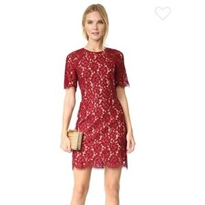 WAYF 'Spencer' lace red dress